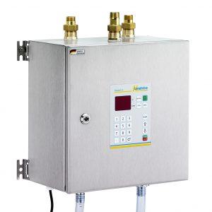 Aquamix 320: Vollautomatisches Wassermischgerät und Wasserdosiergerät mit drei Zuläufen und extra hoher Durchflussleistung der Langheinz Kältetechnik GmbH