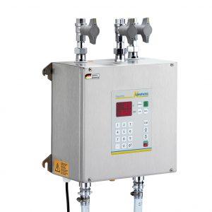 Aquamix 32: Vollautomatisches Wassermischgerät und Wasserdosiergerät mit drei Zuläufen, bedarfsgesteuertem Vorlauf und numerischer Eingabetastatur der Langheinz Kältetechnik GmbH