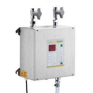 Aquamix 22: Vollautomatisches Wassermisch- und Dosiergerät mit zwei Zuläufen und numerischer Eingabetastatur der Langheinz Kältetechnik GmbH