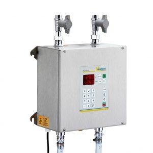 Aquamix 23: Vollautomatisches Wassermischgerät und Wasserdosiergerät mit zwei Zuläufen, bedarfsgesteuertem Vorlauf und numerischer Eingabetastatur der Langheinz Kältetechnik GmbH
